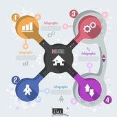 Flat Infographic Design — Stock Vector