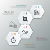 Modern infographics seçenekleri afiş. — Stok Vektör