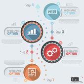 Flat Infographic Design — Stok Vektör