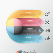 Modern infographic options banner. — Stock Vector