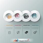 Modern infographic option banner — Stock Vector