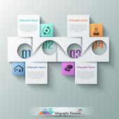 Modern infographic seçeneği afiş — Stok Vektör