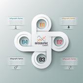 现代信息图表选项横幅 — 图库矢量图片
