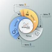 モダンなインフォ グラフィック オプションのバナー. — ストックベクタ