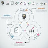 Moderne infographic optie banner — Stockvector