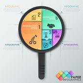 Faixa de opções de infografia moderna. — Vetor de Stock