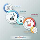 современный инфографический баннер вариантов. — Cтоковый вектор