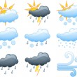 Weather icons — Stock Vector #22551155