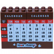 Legos of desktop calendar — Foto Stock