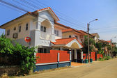 A modern townhouses in city of Thailand — Stock Photo