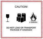 Caution of transportation — Stock Photo