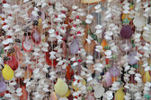 Colourful Shell Curtain — Stock Photo