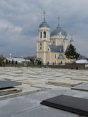 Cathedral of the Orthodox cemetery — Stock Photo