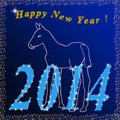 Feliz año nuevo vector — Vector de stock