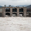 Stock Photo: Full dam