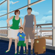 Royalty-Free Stock Vector Image: Family at the airport