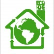 Eco clean Earth is our home — Vettoriali Stock