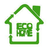 Ecologically eco clean home — Stock Vector