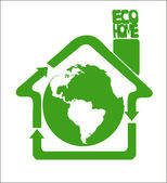 Eco clean Earth is our home — Stock Vector