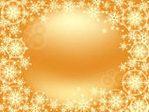 Snowflake frame gold size 1024-768 — Stock Vector