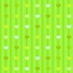 corazones de colores pastel verde sobre fondo transparente tela rayada — Foto de Stock   #39456585