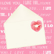 Foto de Stock  : Lip print on envelope