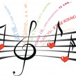 Love song in different languages — Stockfoto