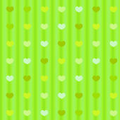 Green pastel hearts on striped cloth seamless background — Стоковое фото