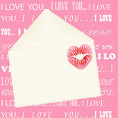 Lip print on the envelope — Stock Photo