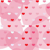 Pink and red simple hearts on white seamless background — Стоковое фото