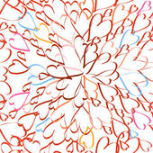Confetti rays hearts seamless background — Стоковое фото