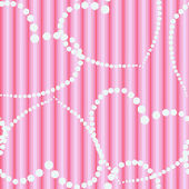 Dots hearts on striped cloth seamless background — Stock Photo