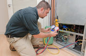 HVAC Technician Working — Stock Photo
