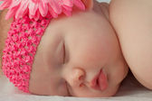 Sweet Innocent Face of a Sleeping Baby Girl — Stock Photo