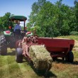 Farmer Bales Hay' — Stock Photo