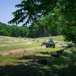 Farmer Bales Hay — Stock Photo #26969391