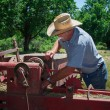 Farmer inspects Equipment — Stock Photo #26969431