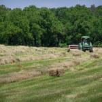 Farmer Bales Hay' — Stock Photo #26975485