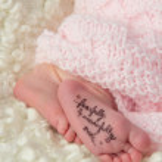 Newborn's Feet — Stock Photo