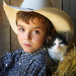 Young Cowboy with Big, Brown Eyes — Stock Photo