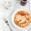 Pancakes with jam — Stock Photo