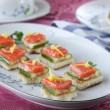 Sandwiches with red fish — Stock Photo #22434801