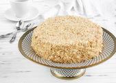 A napoleon cake — Stock Photo