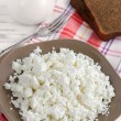 Cottage cheese on a plate — Stock Photo