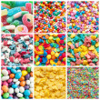 Stock Photo: Colorful collage of various candies and sweets