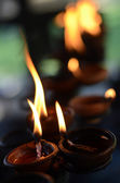 Buddhist candle — Stock Photo