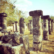 Stock Photo: Columns Chichen Itza