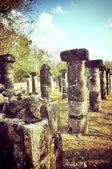 Columns Chichen Itza — Stock Photo