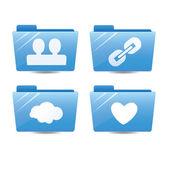 Blue internet folders — Stock Vector