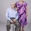 Portrait of an elderly couple eighty years — Stock Photo #30061445